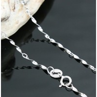 Silver Chain By Swarovski Elements Ν.1