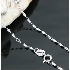 Silver Chain By Swarovski Elements Ν.1