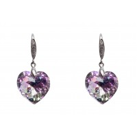 Earrings made with Swarovski Elements - Heart Shape