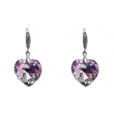 Earrings made with Swarovski Elements - Heart Shape