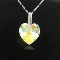 Heart Shape necklace made with Swarovski Elements N.2