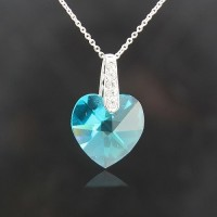 Heart Shape necklace made with Swarovski Elements N.3
