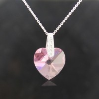 Heart Shape necklace made with Swarovski Elements N.4