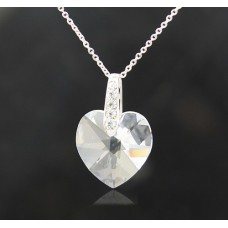 Heart Shape necklace made with Swarovski Elements N.5