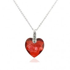 Heart Shape necklace made with Swarovski Elements N.7