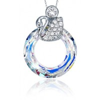 Cosmic Ring Necklace made with Swarovski Elements N.1