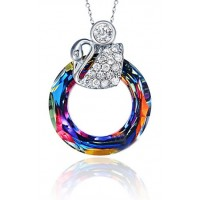 Cosmic Ring Necklace made with Swarovski Elements N.3