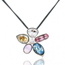 MultiColor Necklace made with Swarovski Elements