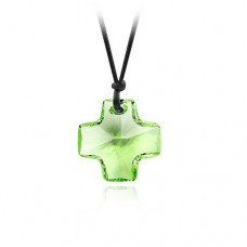 Cross Pendant made with Swarovski Elements Green